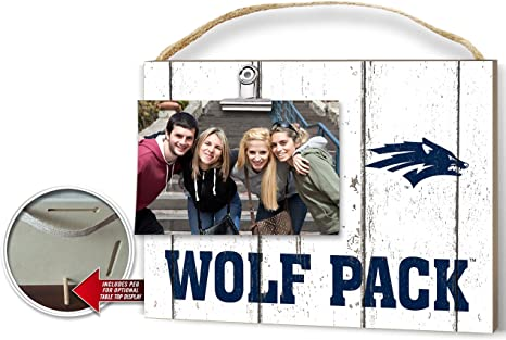 Amazon Com Kh Sports Fan 10 X8 Nevada Wolf Pack Clip It Weathered Logo Collage Photo Frame White