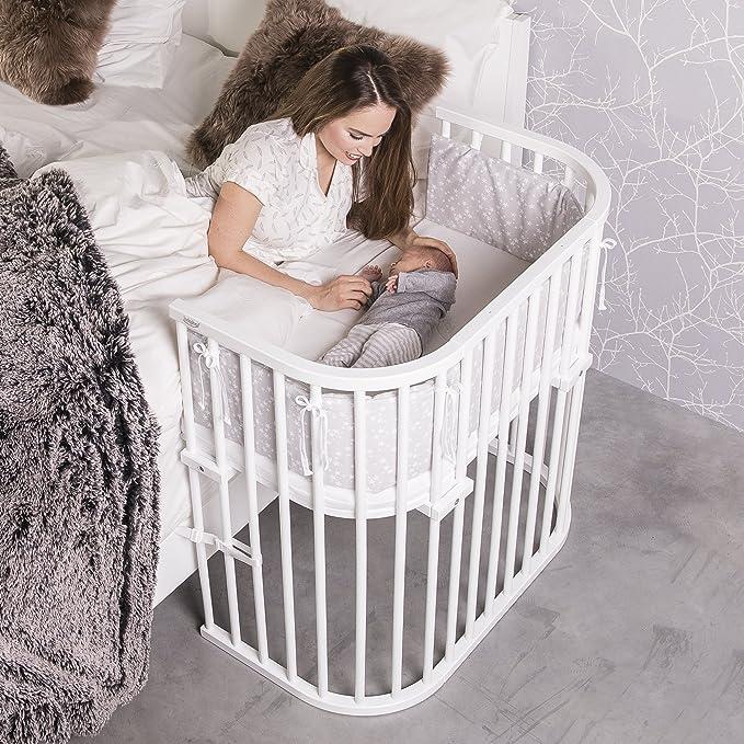 Babybay Boxspring - Cuna de colecho con ventilación extra, color blanco: Amazon.es: Bebé