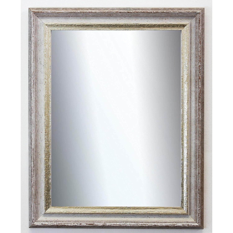 Spiegel Wandspiegel Wandspiegel Wandspiegel Badspiegel Flurspiegel Garderobenspiegel - Über 200 Größen - Trento Beige Silber 5,4 - Außenmaß des Spiegels 60 x 140 - Wunschmaße auf Anfrage - Antik, Barock e8142a