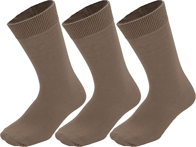 Cotton Rich Dress Socks Size 6-10 STRATO COTTON Plain Everyday Crew Socks