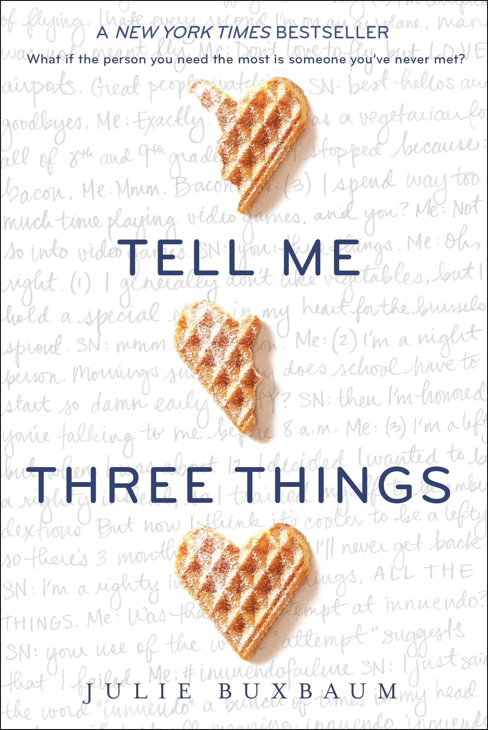 Image result for tell me three things book cover