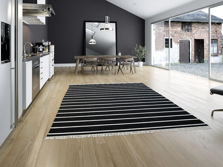 CarpetVista CarpetVista CarpetVista Dorri Stripe - Schwarz Weiß Teppich 160x230 Moderner Teppich B00KLWSTAU Lufer 9e552a