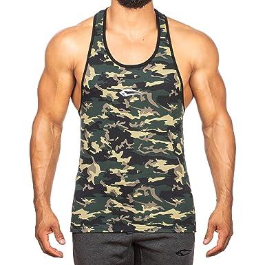 064911856ebd SMILODOX Camouflage Stringer Herren   Muskelshirt mit Aufdruck für Gym  Fitness   Bodybuilding   Muscle Shirt