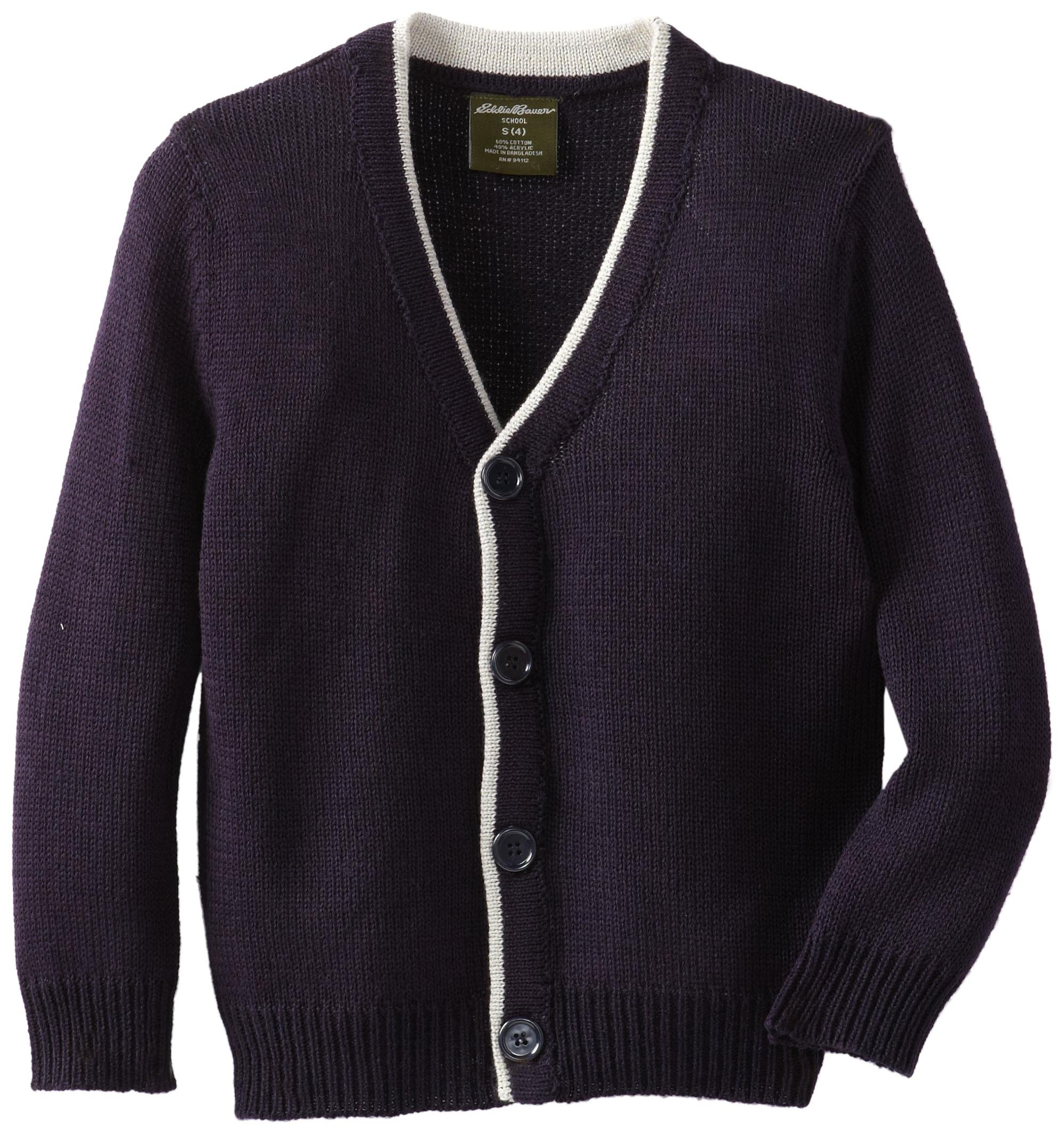 Eddie Bauer Boys' Sweater (More Styles Available), Simple Navy, 7