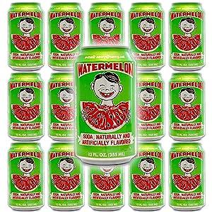 Cawy Watermelon 12 oz - Watermelon Flavored Soda - Low Sodium - 15 Pack