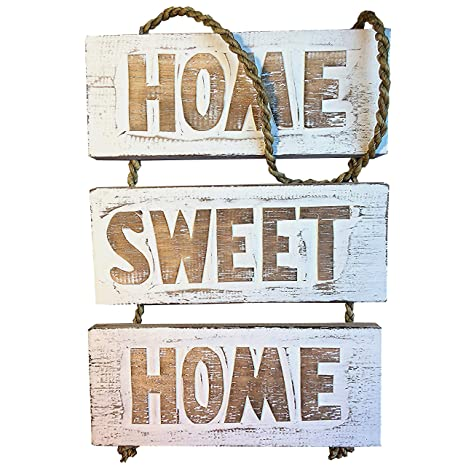 Amazon.com: Home Sweet Home cartel de madera – hecho a mano ...