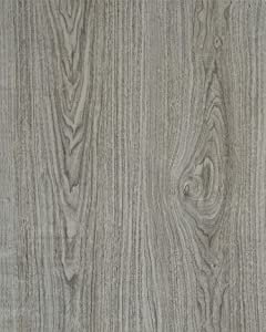 """Gray Wood Grain Film Self Adhesive Panel Grey Wood Textured Peel and Stick Wallpaper for Kitchen Cabinets Removable Furniture Desk Shelf Paper Drawer Liner Wooden Decorative Faux Vinyl Roll 17.8""""x6.6'"""