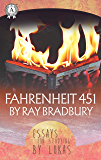 Fahrenheit 451 by Ray Bradbury  Essay for studying by Lukas
