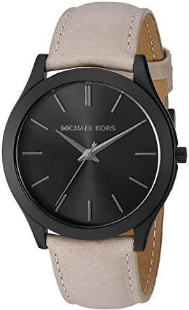 008efb446648 Image Unavailable. Image not available for. Color  Michael Kors Men s Slim  Runway Black Watch MK8510