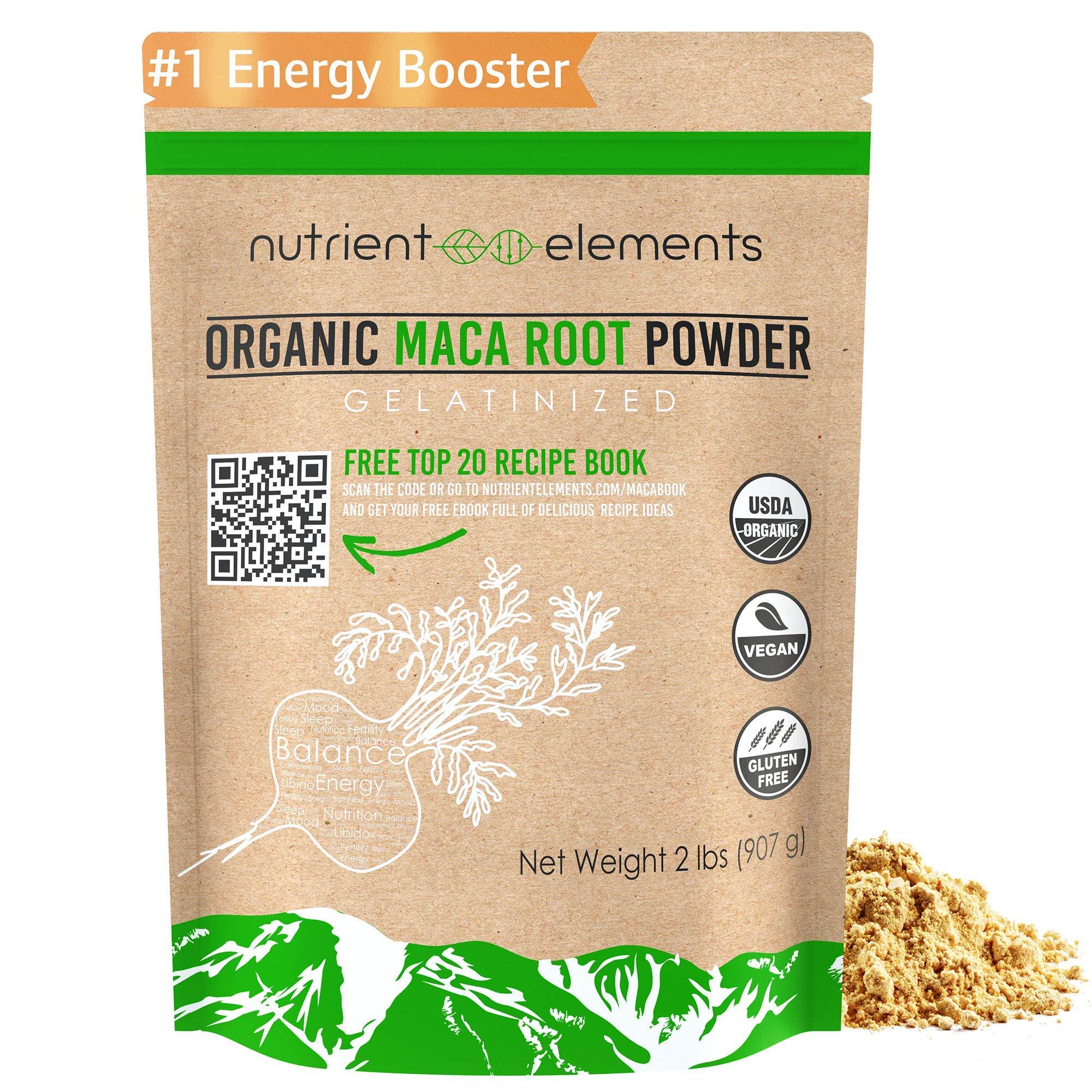 Premium Organic and Raw Maca Root Powder - 2 lbs - USDA