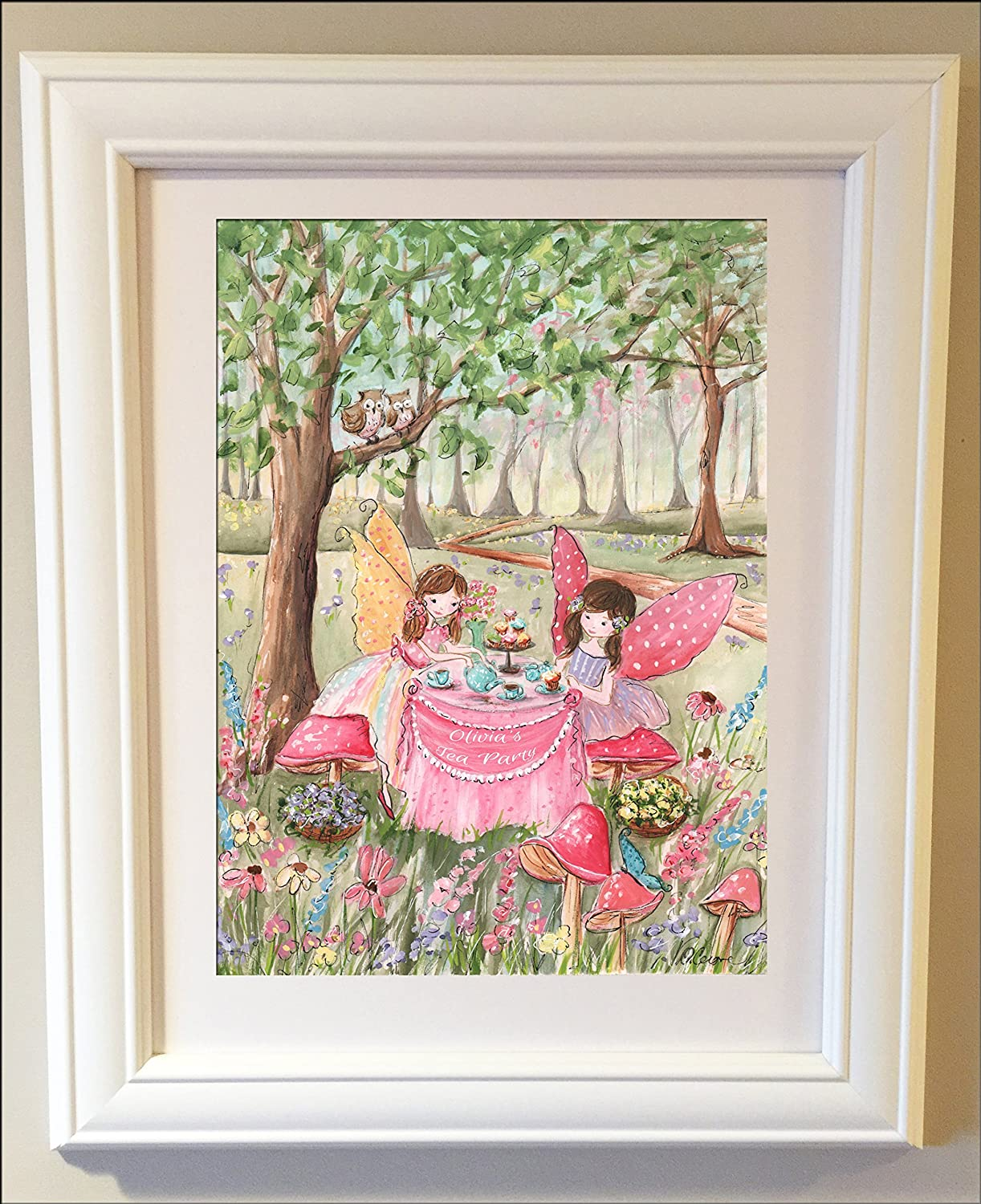 Fairy Room Decor For Girls Bedroom Or Nursery, Personalized Fairy Tea  Party, Fine Art, 6 Sizes, Unframed