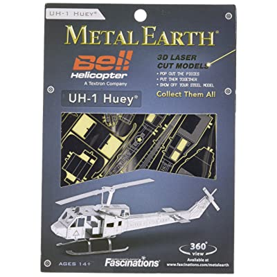 Metal Earth Metal Earth Kit hélicoptère Huey UH-1 502506 kit à monter