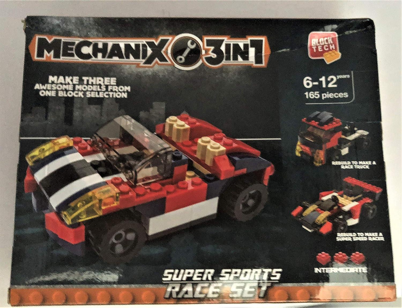 Block Tech MeChaniX 3in1 Super Sports Race Set RMS International
