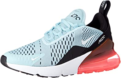 8ae90f6a7ef2 Image Unavailable. Image not available for. Color  Nike Women s Air Max 270  Ocean Blis Black White AH6789-400 (Size