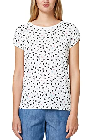 4332ec46f340a8 edc by Esprit Women's 078cc1k020 T-Shirt, (White 2 111), Small