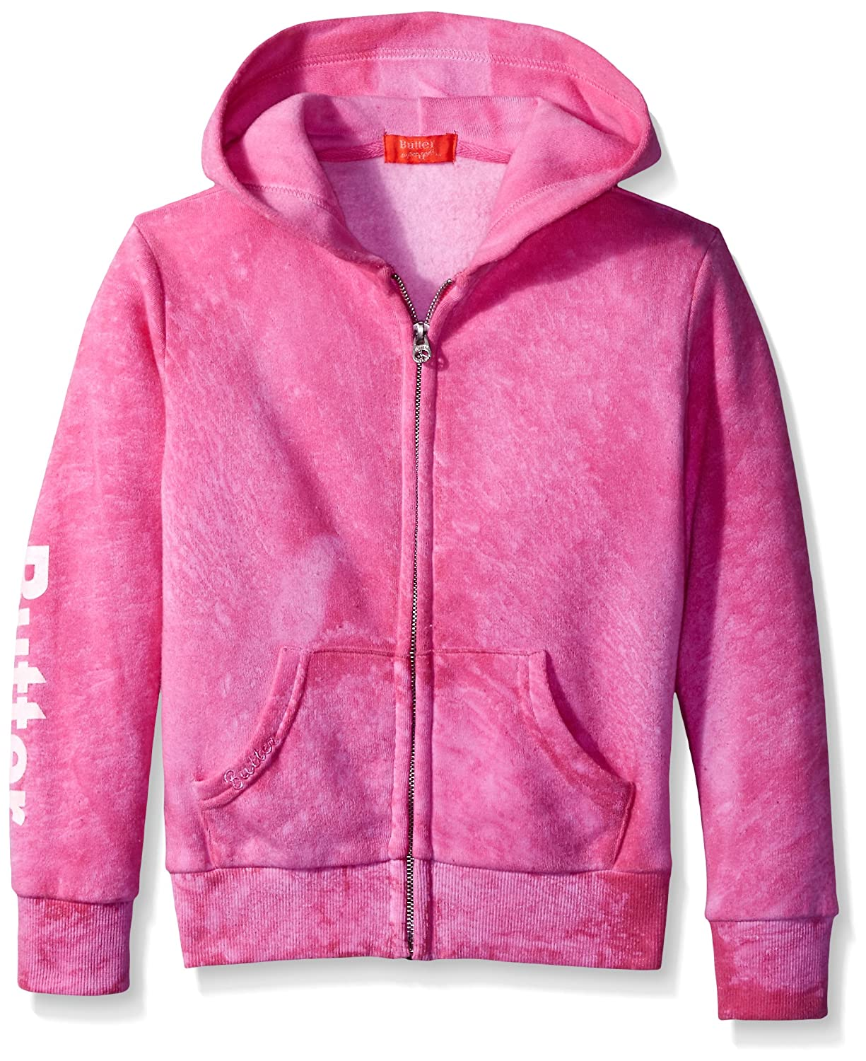 6a6a8a0c2 BUTTER SUPER SOFT Girl's Long Sleeve Fleece Dip Dye Graphic Hoodie  Sweatshirt: Amazon.in: Clothing & Accessories