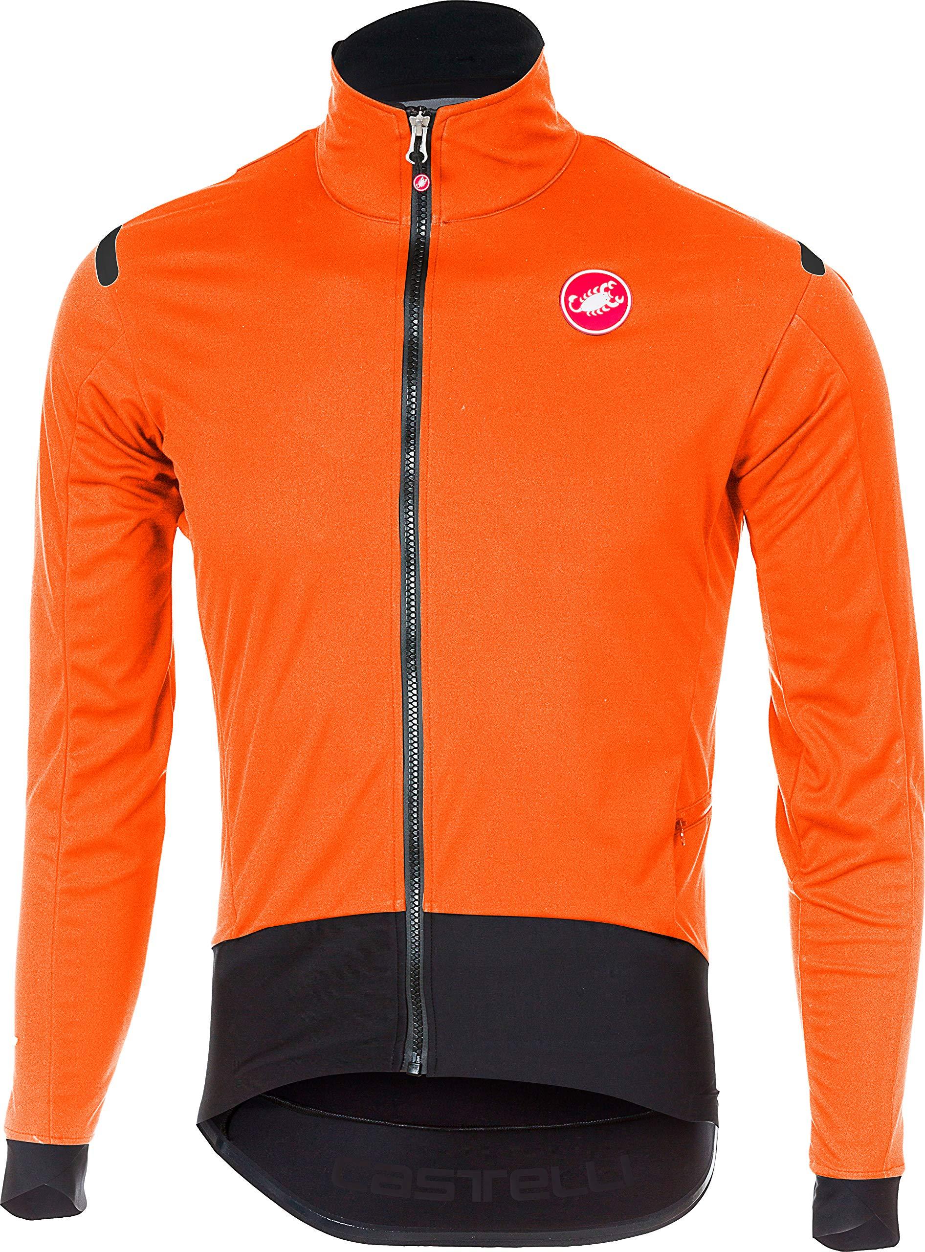 Castelli Alpha ROS Light Jacket - Men's Orange/Black, S