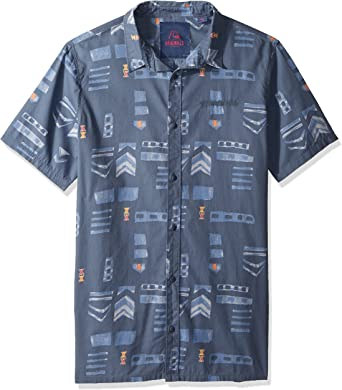Quiksilver Mad Wax - Camisa estampada para hombre - Azul - XX ...