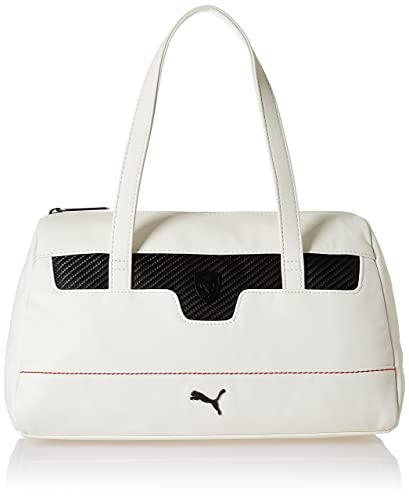 Puma Ferrari LS Women s Handbag (Puma White)  Amazon.in  Shoes ... b720f25750f5e