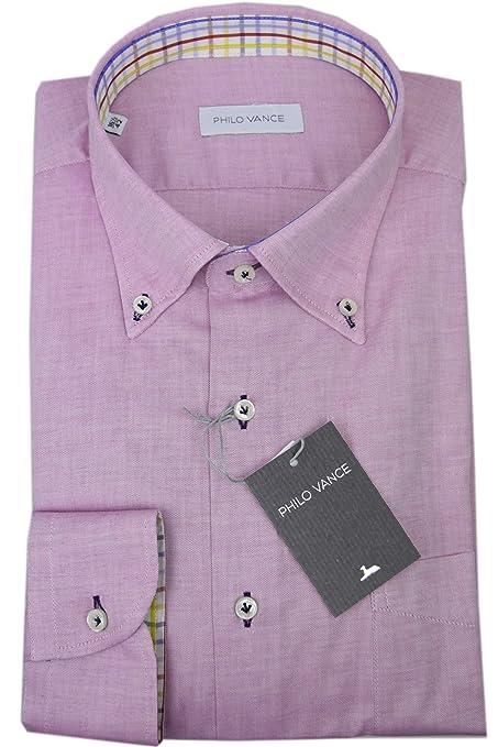 Philo Vance El Hombre De La Camisa Rosa De Oxford Gata Botón-Abajo ...