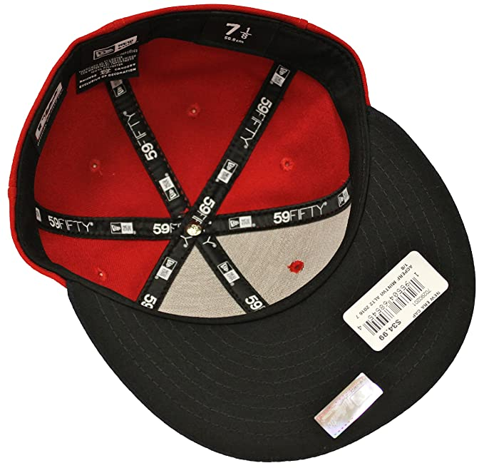 8deebbeaab77 New Era 59Fifty On Field Minnesota Twins Red Navy Fitted Cap at Amazon  Men's Clothing store: