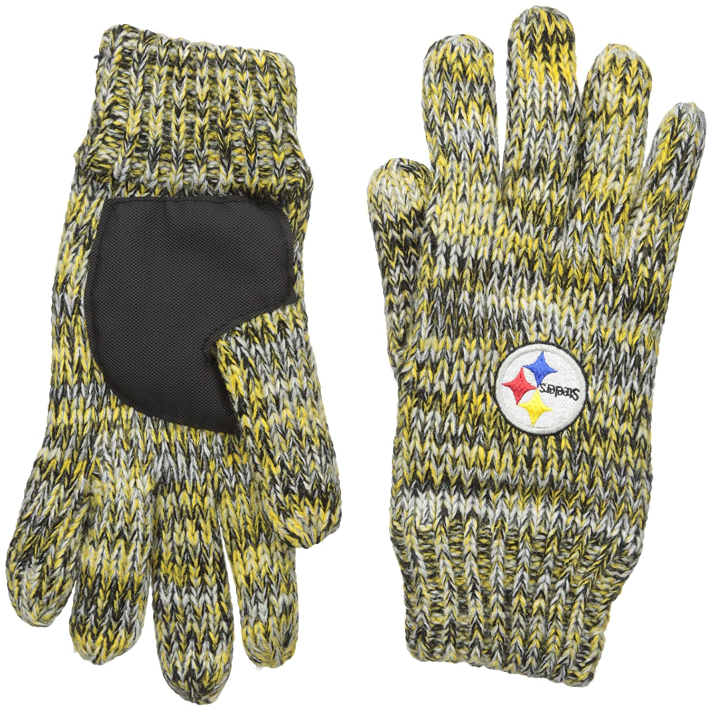 NFL Pittsburgh Steelers Peak Glove, Black Columbus Sports GLVNFPEAKPS
