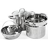 Duxtop Professional Stainless steel Cookware Induction Ready Impact-bonded Technology (Pasta Steamer Set)