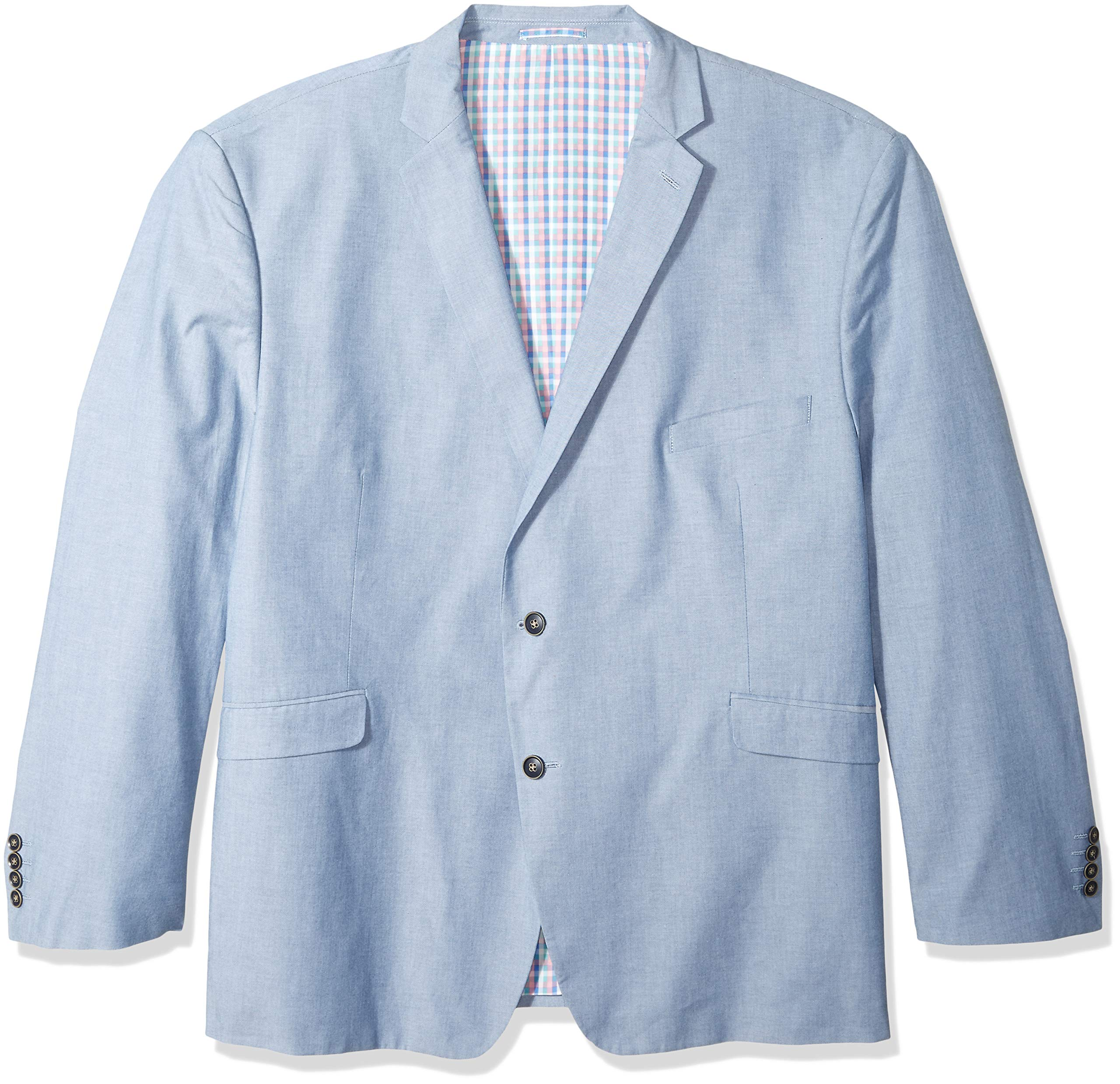 U.S. Polo Assn. Men's Big and Tall Chambray Sport Coat, Blue, 58 Long
