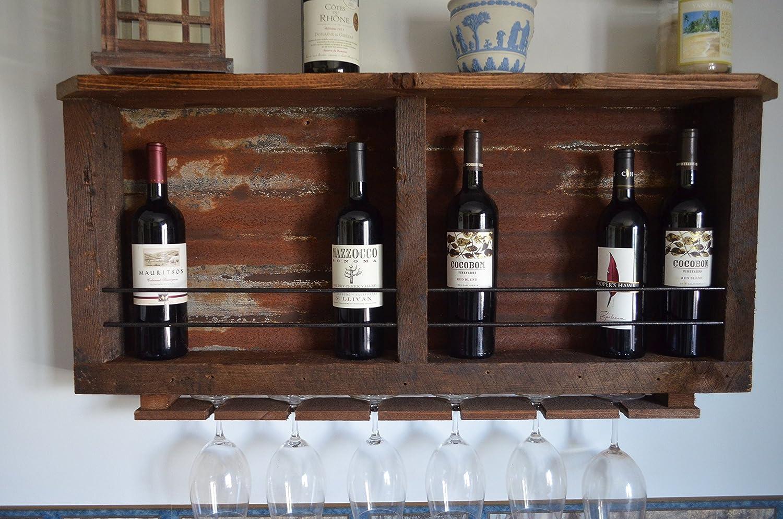 10 - Bottle Barn wood & Tin Wine rack