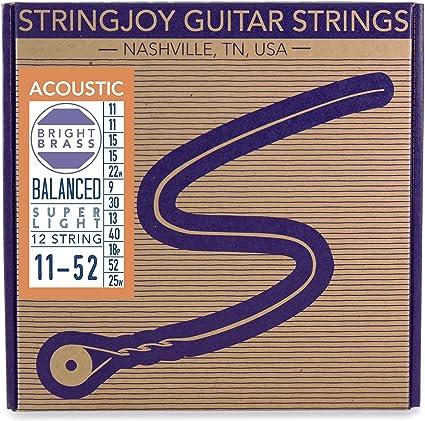 Stringjoy - Cuerdas para guitarra acústica (latón): Amazon.es ...