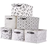 Foldable Storage Bin   DECOMOMO Set of 6   Water Resistant Fabric Cube Container with Handles   Great for Organizing Closets,