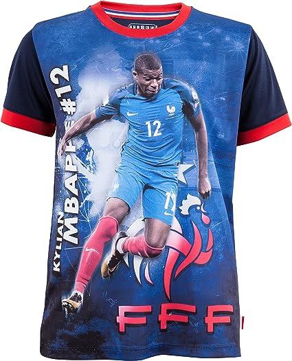 Equipe de FRANCE de football Maillot FFF Kylian MBAPPE Collection Officielle Taille Enfant