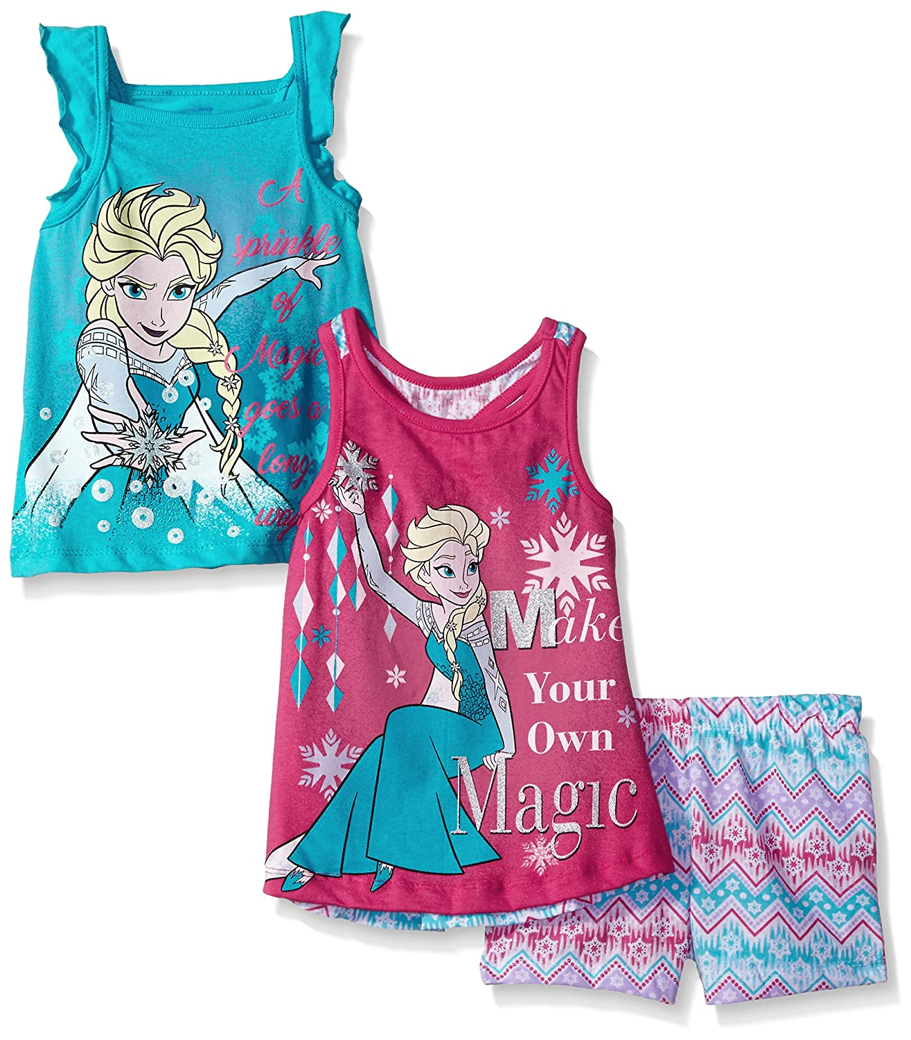 Disney Little Girls' 3 Piece Frozen Short Set
