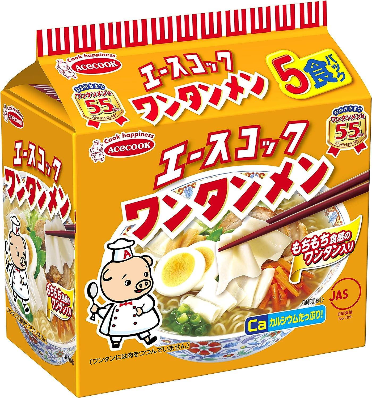 エースコック ワンタン 麺
