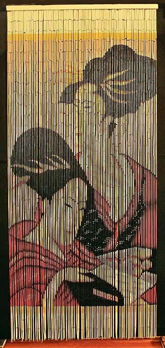 Amazon.com: Bamboo Beaded Curtain Geisha Girl Chinese Door Way Room Divider  90 Strands NT/BB 05: Kitchen U0026 Dining
