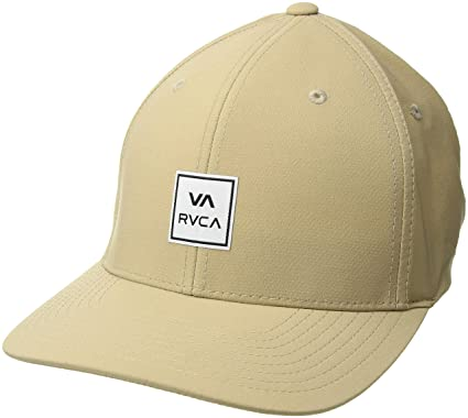 brand new 6dd52 330cf Amazon.com  RVCA Men s Warner Flex Fit Hat  Clothing