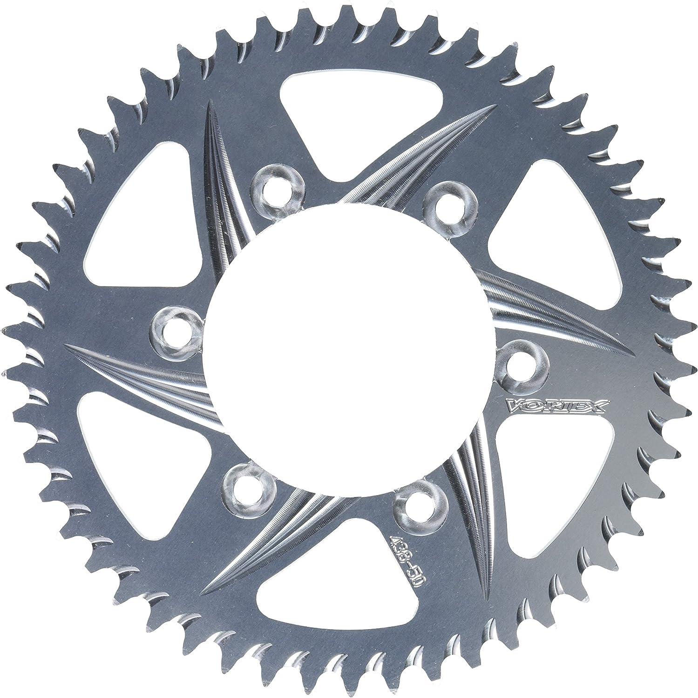 Silver 50-Tooth 520-Pitch Rear Sprocket Vortex 435-50