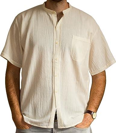 Camisa de verano, comercio ético, estilo clásico, mangas corto.: Amazon.es: Ropa y accesorios