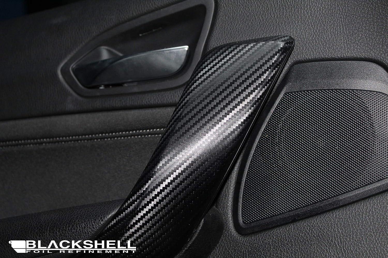 Skalpell 3er E90//E91//E92//E93 14tlg - Carbon Folie selbstklebend Interieurleisten Rakel BLACKSHELL Zierleisten Folie inkl