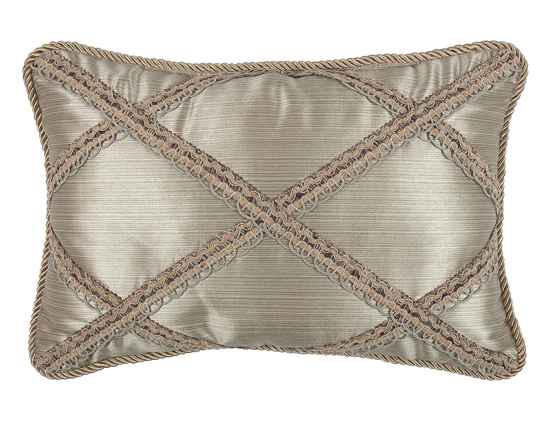 14 x 23 Austin Horn Classics Hampshire Boudoir Pillow Light Gold//Brown