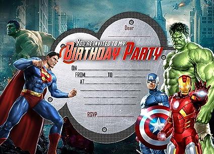 Biglietti Invito Compleanno Bambini Avengers Powermall