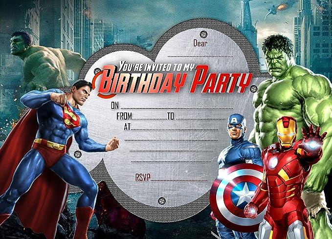 Invitaciones de fiesta de cumpleaños para niños. Diseño de ...