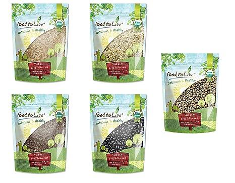 Frijoles y semillas orgánicas, 1 caja de regalo - Sin OGM ...