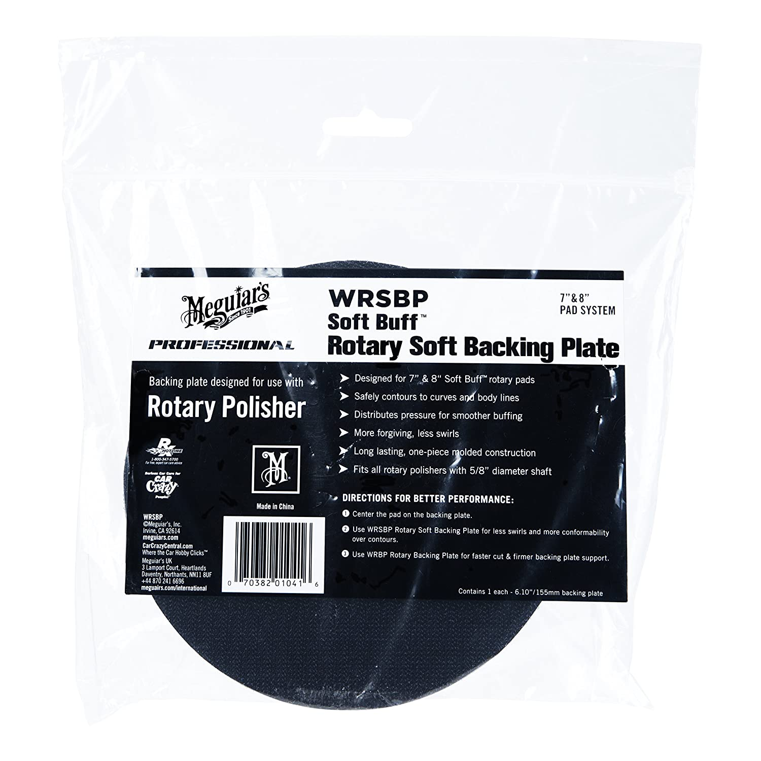 Hook and Loop Foam Pad Restores High Gloss WRFP7 Meguiar/'s 7 Rotary Foam Polishing Pad