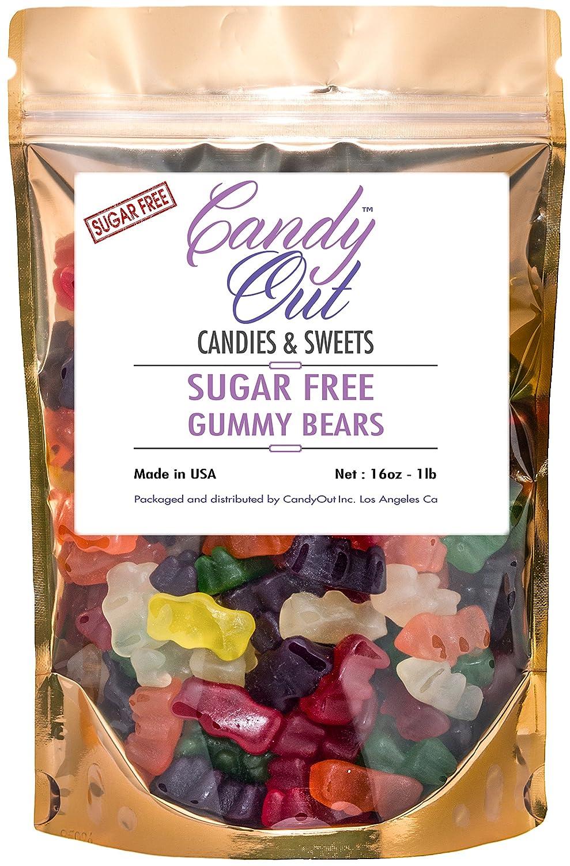 Amazon.com : CandyOut Sugar Free Gummy Bears 1 Lb in Sealed ...