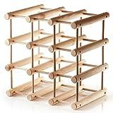 Up Home supporto in legno autoportante per 12 bottiglie, modulare, espandibile, personalizzabile, pratico per cucina o bar a casa