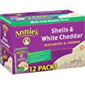 Annie's Homegrown Shells 12 Pack of 6-Ounce Macaroni & Cheese