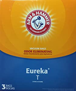 Arm & Hammer Odor Eliminating Vacuum Bags, Eureka T Vacuum