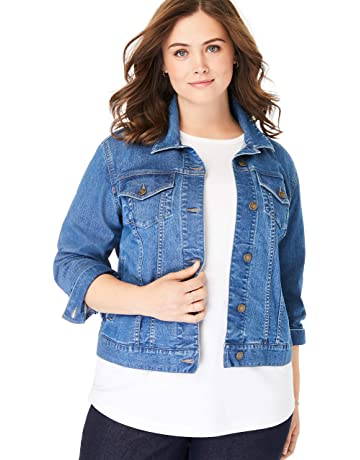 dabeca78928 Woman Within Women's Plus Size Stretch Denim Jacket