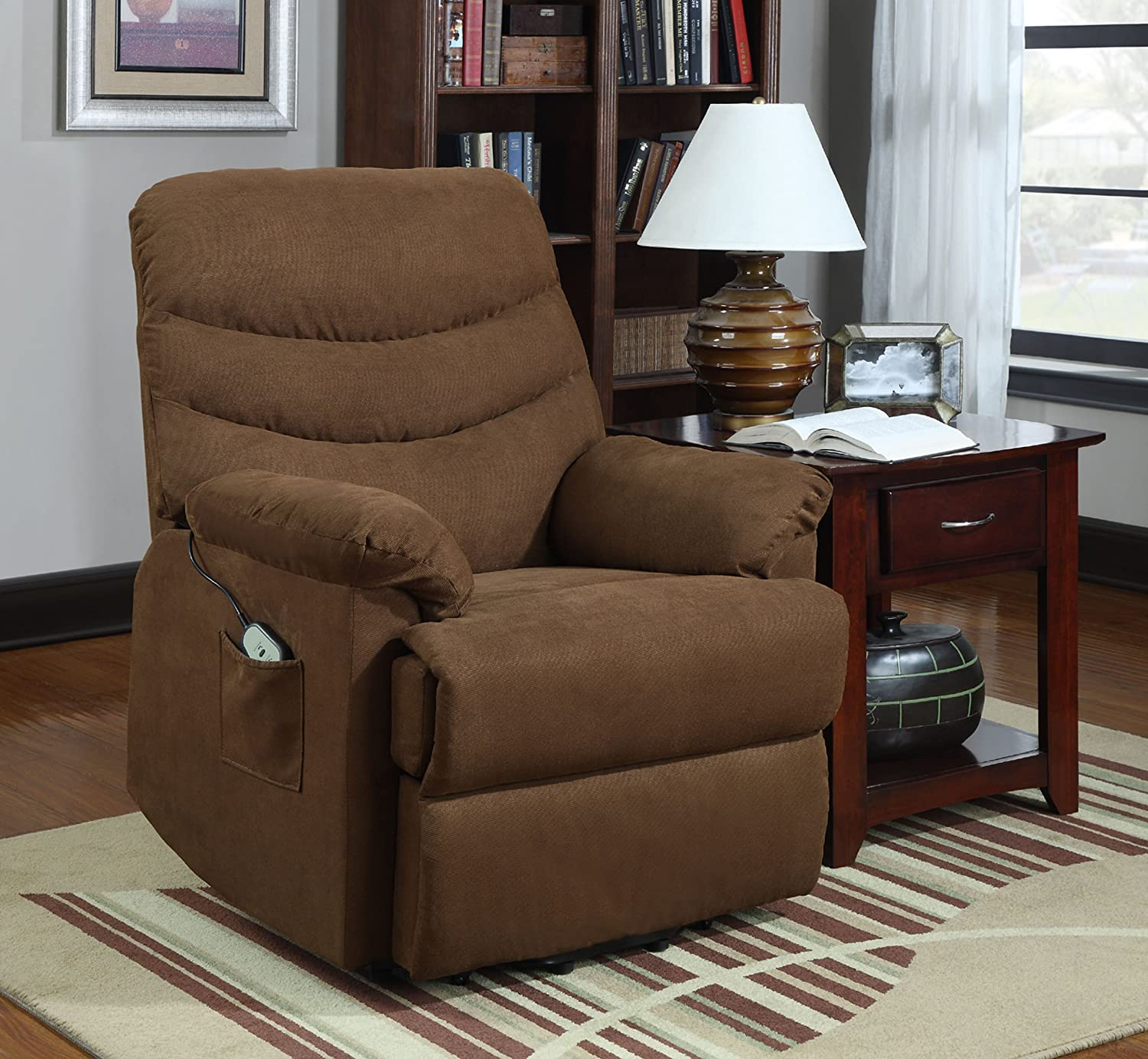 Amazon Homelegance Elevated 9769BR 1LT Power Lift and Recline